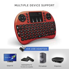 0dbda56c289 Rii i8+ 2.4GHz Wireless Keyboard Touchpad Combo LED Backlit Multimedia Keys  - intl