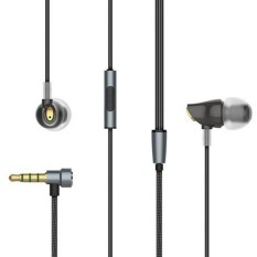 Price Compare Rock Zircon Stereo 3 5Mm Wired Earphone With Microphone Black Intl