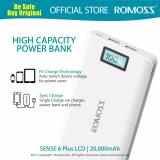 The Cheapest Romoss Sense 6 Plus Lcd High Capacity Premium Power Bank Online