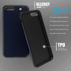 Roybens Anti Skid Anti Knock Carbon Fiber Pattern Soft Case Cover For Iphone 7 Plus Navyblue Intl Roybens Cheap On China