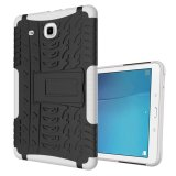 Cheaper Ruilean Hybrid Armor Pc Tpu Shockproof Anti Slip Tough Rugged Dual Layer Kickstand Case For Samsung Galaxy Tab E 9 6 White