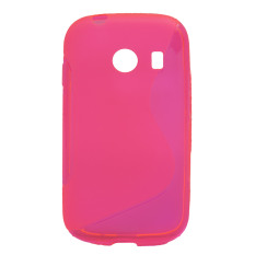 S Line Flexible TPU Case Cover Skin For Samsung Galaxy Ace Style G310 Pink