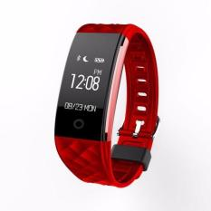 Best S2 Fitness Tracker Ip67 Waterproof Smart Band Real Time Heart Rate Wristband For Android 4 3 Ios 7 Or Above Phone Red Intl