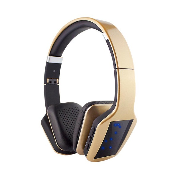 S650 Wireless Bluetooth Headphone 3D Stereo Subwoofer LED Light (Gold) Singapore