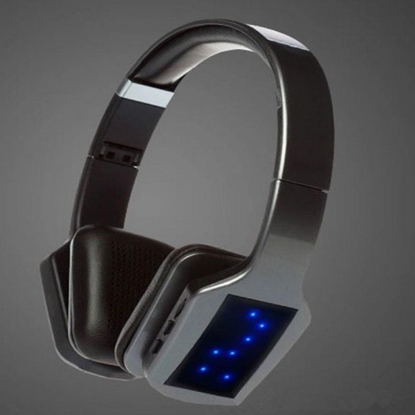 S650 Wireless Bluetooth Headphone 3D Stereo Subwoofer LED Light (Grey) Singapore