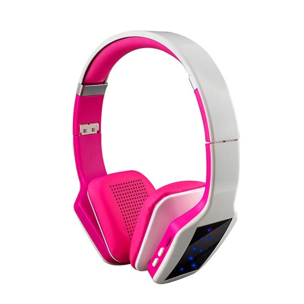 S650 Wireless Bluetooth Headphone 3D Stereo Subwoofer LED Light (White+Pink) Singapore