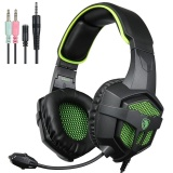Cheaper Sades Sa 807 Multi Platform New Version Xbox One Ps4 Pc Gaming Headset Game Headphones With Microphone For Laptop Mac Tablet Iphone Ipad Ipod Blabk Green Intl