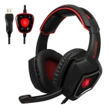 Great Deal Sades Spirit Wolf 7 1 Surround Stereo Sound Usb Computer Gaming Headset With Microphone Over The Ear Noise Isolating Breathing Led Light For Pc Gamer Intl