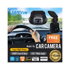 Safevue 1080P Front And Rear Dual Channel Car Camera T6S With 1 Year Warranty Brand Of Singapore Best Price