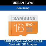 Sale Samsung 16Gb Evo Microsdhc Uhs I Card With Sd Adapter 48Mb S Transfer Speed Online On Singapore