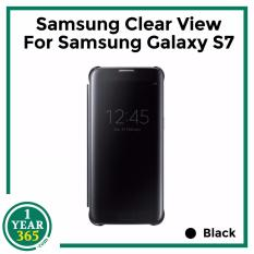 Sale Samsung Clear View For Samsung Galaxy S7 Black Samsung Original