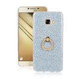 Retail Price Samsung Galaxy C5 Case Tpu Soft Sparkle Powder Back Case With 360 Degree Rotating Ring Holder Stand Case Cover For Samsung Galaxy C5 Blue Intl