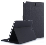 Lowest Price For Samsung Galaxy Tab A 9 7 Case Premium Pu Leather Case Stand Cover With Card Slots Pocket Elastic Hand Strap And Stylus Holder For Samsung Galaxy Tab A 9 7 Inch P550 Black