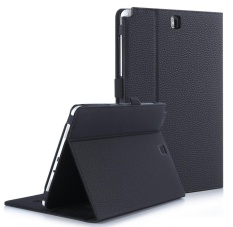 Shop For For Samsung Galaxy Tab A 9 7 Case Premium Pu Leather Case Stand Cover With Card Slots Pocket Elastic Hand Strap And Stylus Holder For Samsung Galaxy Tab A 9 7 Inch P550 Black