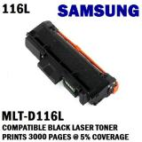 Buy Samsung Mlt D116L Compatible Black Laser Toner Prints 3000 Pages 5 Coverage
