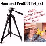 Price Samurai Pro 888 Pro888 Tripod With Free Limited Edition Pikachu Shoulder Plush Online Singapore