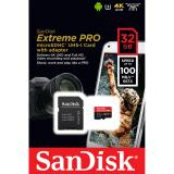Buy Sandisk Extreme Pro 32Gb Class 10 V30 A1 Up To 100Mb S Microsd Memory Card Ultra 4K Camera Gopro Sdsqxcg 032G Online Singapore