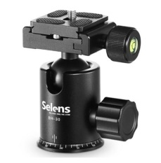 Best Rated Selens Bh 30 Magnesium Alloy Universal Black Tripod Ball Head 360 Degree Fluid Rotation Ballhead Quick Release Plate For Dslr