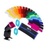 Best Selens Universal Flash Gels Lighting Filter Two Gels Bands Kits For Flashlight