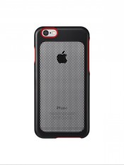 Retail Price Sevenmilli Ultra Slim Real Metal Duo Mesh Case For Apple Iphone 6 6S Black Red
