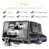 Best Price Shakeproof Driving Video Recorder Car Dash Camera 170° 3 Lens Recorder Intl