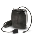 Discounted Shidu 10 Watts Uhf Wireless Voice Amplifier With Comfortable Headset Waist Neck Band And Belt Clip For Teachers Tour Guides Training Meeting Support Recording Tf CardᆪᆲMp3 Format Audio And U Disk Black Intl