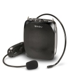 Buy Cheap Shidu 10 Watts Uhf Wireless Voice Amplifier With Comfortable Headset Waist Neck Band And Belt Clip For Teachers Tour Guides Training Meeting Support Recording Tf Card,mp3 Format Audio And U Disk Black Intl