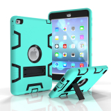 Brand New Shockproof Military Heavy Duty Rubber With Hard Stand Case Cover For Apple Ipad Mini 2 Mint Green Black