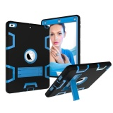 Price Comparisons Of Shockproof Military Heavy Duty Rubber With Hard Stand Case Cover For Apple New Ipad 9 7 2017 Black Blue Intl