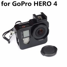 For Sale Shoot Multifunctional Metal Aluminium Alloy Protective Frame Housing Case Cover Cage Shell Accessories For Gpro Hero 4 Black Intl