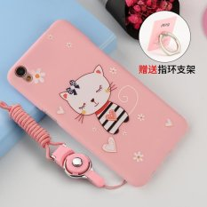 ... Intl Source · Silica Gel Soft Phone Case for OPPO A37 with a Phone Holder Ring Multicolor
