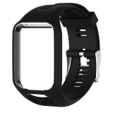Price Silicone Watchband Frame Replacement For Tomtom Runner 2 Spark Spark 3 Black Intl Vktech