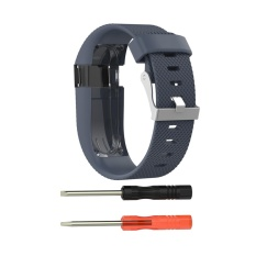 Best Price Silicone Watchband Strap Metal Clasp Smart Band For Fitbit Charge Hr Sport Watch Intl