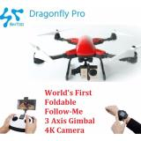 Sale Simtoo Dragonfly Professional 2 Foldable Follow Me Drone With 3 Axis Gimbal 4K Camera Free Extra Battery Online On Singapore