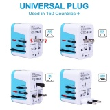 Compare Prices For Sinoday 4 Usb Port All In One Universal International Plug Adapter With Bag World Travel Ac Power Charger Adaptor With Au Us Uk Eu Plug Color Random Intl