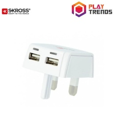 Skross Original Uk Dual Usb Charger Plug 1302700 Shop