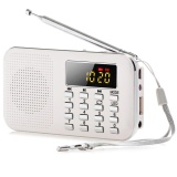 For Sale Slim Fm Am Radio Digital Lcd Supper Bass Mini Speaker Aux Usb Tf Led Light White Intl