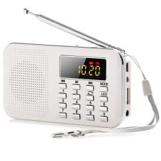 Buy Slim Fm Am Radio Digital Lcd Supper Bass Mini Speaker Aux Usb Tf Led Light White Intl Not Specified