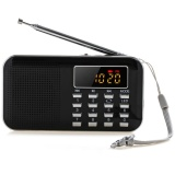 Price Comparisons Slim Fm Am Radio Digital Lcd Supper Bass Mini Speaker Aux Usb Tf Led Light Black Intl