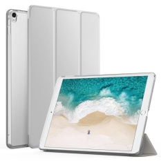 Cheaper Slim Lightweight Smart Shell Stand Cover With Translucent Frosted Back Protector For Apple New Ipad Pro 12 9 Inch 2017 Tablet Silver With Auto Wake Sleep Intl
