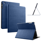 Buy Slim Wood Grain Case Pu Leather Cover For Apple Ipad 2 3 4 Navy Blue Cheap On China