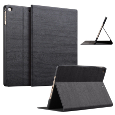 Slim Wood Grain Case Pu Leather Cover For Apple Ipad Air 1 Ipad Air 2 Black Lower Price