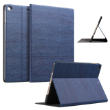 Price Compare Slim Wood Grain Case Pu Leather Cover For Apple Ipad Air 1 Ipad Air 2 Navy Blue