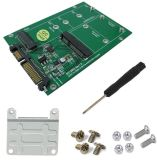 Smakn® 2 In 1 Combine Mini Pci E M 2 Ngff Msata Ssd To Sata 3 Iii Adapter Pcb Card Export Intl Free Shipping