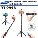 Best Price Yunteng 9928 Smartphone Selfie Tripod Monopod Stick With Phone Holder Bluetooth Remote Controller