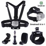 Best Price Smatree® 6 In 1 Accessory Kits For Gopro Hero 1 2 3 3 4 5 Silver Black Session Sjcam Sj4000 Sj5000 Xiaomi Xiaoyi Yi 4K Action Camera
