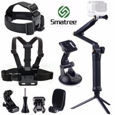 Smatree® 9 In 1 Accessory Kits For Gopro Hero 1 2 3 3 4 5 Silver Black Session Sjcam Sj4000 Sj5000 Xiaomi Xiaoyi Yi 4K Action Camera Smatree Cheap On Singapore