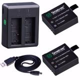 Review Smatree Sj4000A 1100Mah Replacement Battery 2 Pack 2 Channel Charger Usb Cord For Sjcam On Singapore