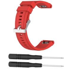 Discount Soft Silicone Replacement Watch Band Strap For Garmin Fenix5X Fenix3 Hr Quatix3 D2 Fenix 5X Fenix 3 Hr Quatix 3 D2 Smart Bracelet 26Mm Red Intl