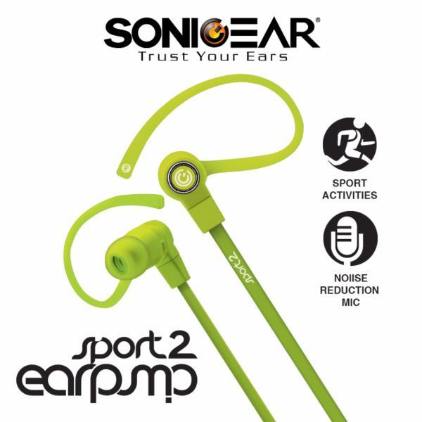 SonicGear Earpump Sport 2 Earphones-Green Singapore